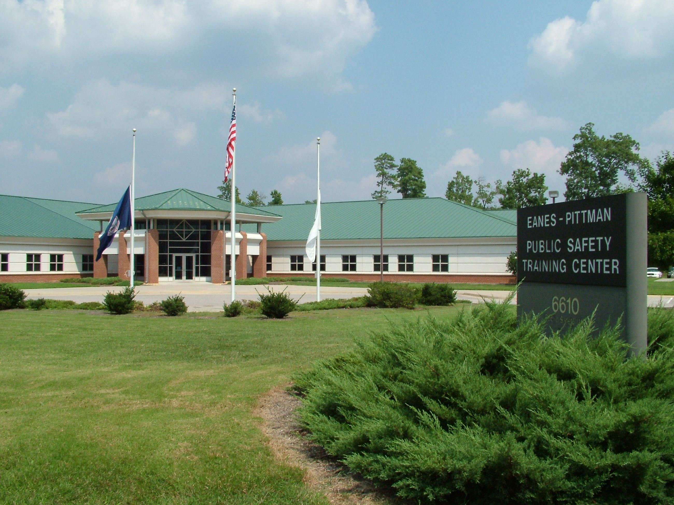 Exterior photo of the Eanes-Pittman Public Safety Training Center
