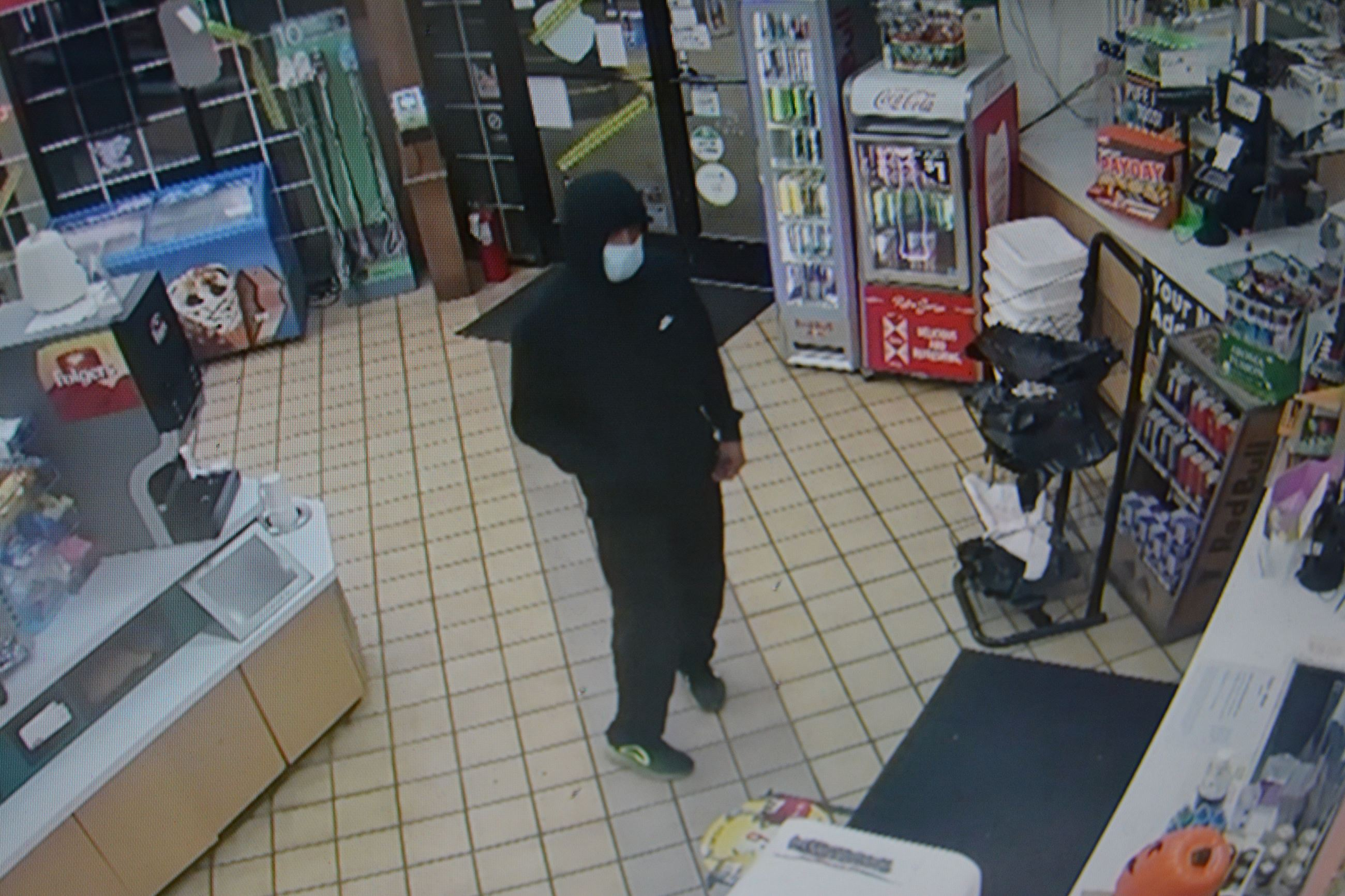 Suspect in 9-30-2020 Luckys Robbery Photo 1