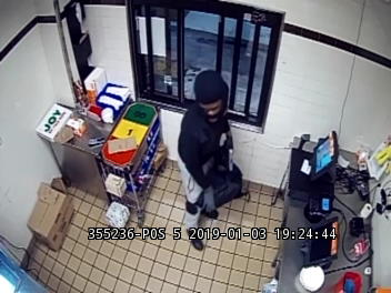 Suspect in 1-3-19 Dunkin Donuts Robbery Photo 1